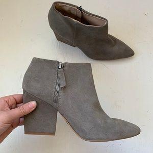 Zara Grey Suede Booties 9/40